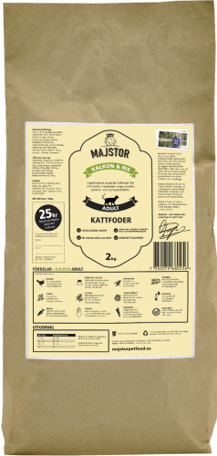 Lamm Ris 2kg Majstor kattfoder